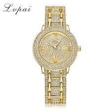 bracelet watches womens images Lvpai brand luxury bracelet watches women gold stainless steel jpg