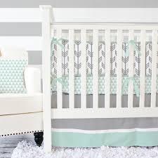 Mint Green Crib Bedding Gray Mint Arrow Baby Bedding Gender Neutral Crib Set