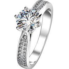 brilliant diamond rings images Genuine silver 925 1 5ct star brilliant diamond engagement rings jpg