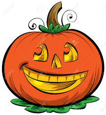 a smiling cartoon jack o u0027 lantern stock photo picture and