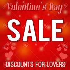 valentines sales s day sale discounts for design poster vector