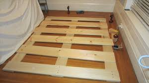 bed frame cusm steps with pictures mac how to make wood bed