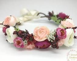 flower crowns flower crown etsy