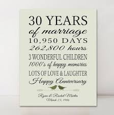 30 year anniversary ideas 30th anniversary gift personalized gift 30 years married gift for