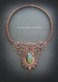 copper necklace images Copper necklace with labradorite by nastya iv83 jpg