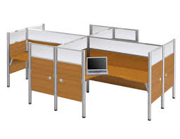 Z Line L Shaped Desk by Pro Biz 4 Way Workstation With Ultimate Privacy In Cappuccino