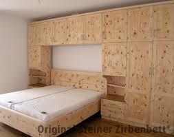 Schlafzimmer Zirbe Massiv Zirbenbett Hocheck Mit Schrankueberbau Steiner Jpg
