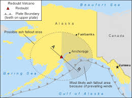 us map anchorage alaska redoubt volcano alaska map facts and eruption pictures