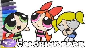 the powerpuff girls coloring book pages bubbles blossom buttercup