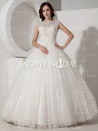 traditional princess long lace tulle cap sleeve corset wedding