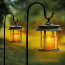 Solar Path Light Solmar Flicker Candle Solar Lantern Led Pathway Lights 4 Pack Ebay