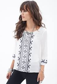 forever 21 white blouse forever 21 embroidered woven peasant top where to buy how to wear