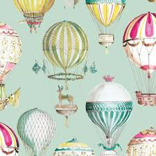 air balloon kids room wallpaper non woven wallpapers of