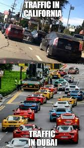 Traffic Meme - traffic jam in california vs traffic jam in singapore sorry for