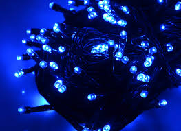 200 battery chasing blue led lights string with timer indoor fia