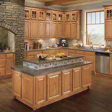 lowes medium oak kitchen cabinets shenandoah bluemont 12 875 in w x 13 in h x d honey oak kitchen cabinet sle