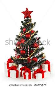 Decorated Christmas Tree Gifts by Decorated Christmas Tree Gifts On White Stock Photo 160090946