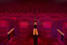 fauteuils rouges fauteuils rouges de velours dans la salle vide photo stock image