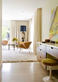 Amazing Double Curtain Rod Design by Living Room Mid Century Modern Curtain Ideas Mid Century Modern