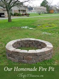 Home Made Firepit Our Pit Learning And Yards
