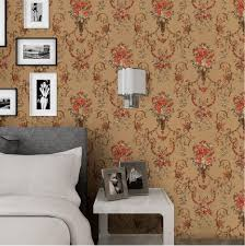 rustic country style gold foil big flower wallpaper for tv