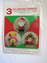 christmas ornament craft kit 3 felt jeweled decorations santa