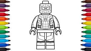 draw lego spider man homecoming marvel super heroes