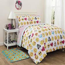 emoji icon bag bedding set colorful bed cover sheet queen size