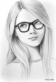drawn spectacles pencil shading pencil and in color drawn
