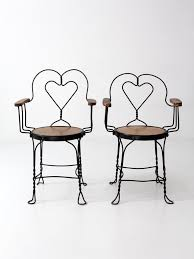ice cream parlor table and chairs set vintage ice cream parlor arm chairs set of 2 86 vintage