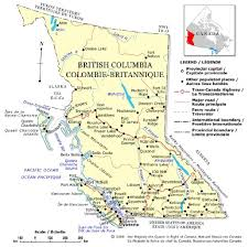 British Columbia Canada Map by Inzana Lake Lodge