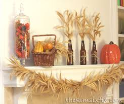 thanksgiving mantel bringing in the sheaves the six fix