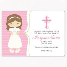communion invitations communion invitation sweet girl 15 00 via etsy 1era