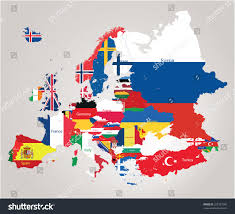 Turkey Map Europe by Europe Map Jointed Country Flags Stock Vector 222167560 Shutterstock