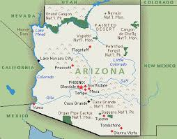 map of arizona arizona map map of arizona greenwich time