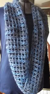 gossamer tangles crocheted double trellis cowl infinity scarf