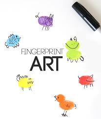 fingerprint art fun u0026 easy craft for kids it u0027s always autumn