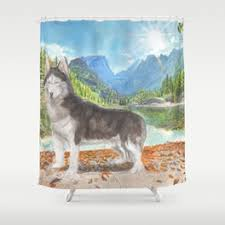 Wolf Curtains Husky Shower Curtains Society6