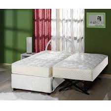 Trundle Bed Frame And Mattress The Sensational Complete High Rise Trundle Bed Sufs Rollaway