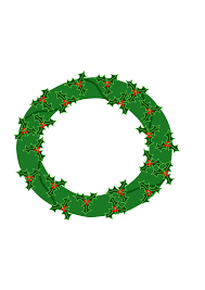 evergreen wreath with large holly clip art at clker com vector