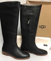 womens black leather boots australia ugg australia gracen whipstitch black 1019086 boots leather sizes
