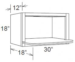 aspen white shaker 30x18 microwave cabinet