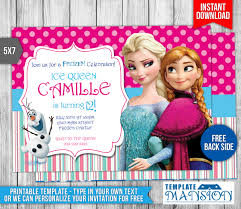 disney frozen birthday invitation 2 by templatemansion on deviantart