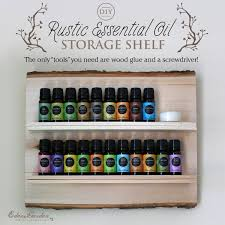 Wooden Storage Shelf Diy by Diy Eden U0027s Garden Essential Oil Storage Shelf
