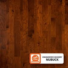 engineered 3 8 distressed hickory multi width nubuck color