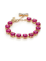 crystal rope bracelet images Lyst kate spade new york fancy that crystal bracelet fuchsia in jpeg