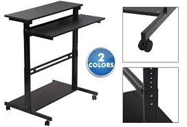 standing desk on wheels adjustable standing desk office workstation with wheels 2 colors