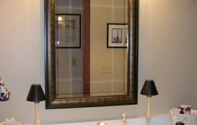 bathroom mirrors and lighting ideas bathrooms design modern brown stained wooden cabinet storage
