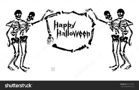 halloween frame png embracing skeletons holding frame made bones stock vector