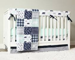 Nursery Bed Set Boy Crib Bedding Etsy